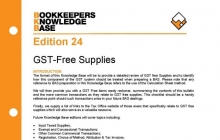 Edition 24 - GST-free Supplies