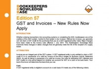 Edition 57 - GST and Invoices