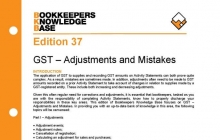Edition 37 - GST Adjustments and Mistakes