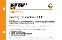 Edition 12 - Property Transactions & GST