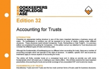 Edition 32 - Accounting for Trusts