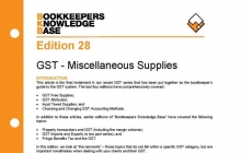 Edition 28 - Miscellaneous Supplies
