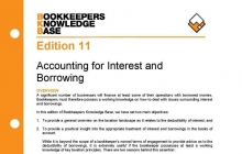Edition 11 - Accounting for Interest & Borrowings
