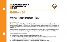 Edition 30 - Wine Equalisation Tax