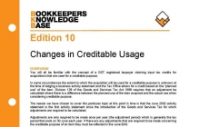 Edition 10 - Changes in Creditable Usage