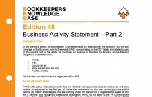 Edition 48 - Business Activity Statement - Part 2