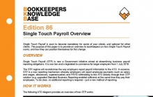 Edition 86 - Single Touch Payroll Overview