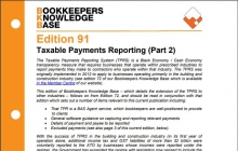 Edition 91 - Taxable Payments Reporting (Part 2)