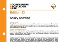 Edition 33 - Salary Sacrifice