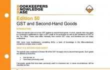 Edition 50 - GST and Second-Hand Goods