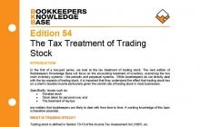 Edition 54 - The Tax Treatment of Trading Stock