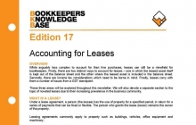 Edition 17 - Accounting for Leases