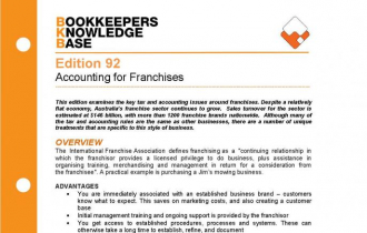 Edition 92 - Accounting for Franchises