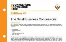 Edition 41 - The Small Business Concessions