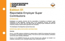 Edition 51 - Reportable Employer Super Contributions