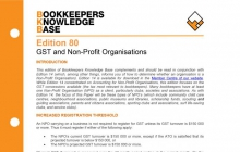 Edition 80 - GST and Non-profit Organisations