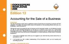 Edition 13 - Accounting for the Sale of a Business