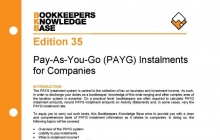 Edition 35 - PAYG Instalments