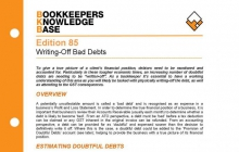 Edition 85 - Writing-Off Bad Debts