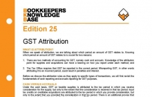 Edition 25 - GST Attribution