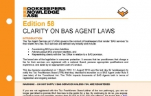 Edition 58 - Clarity on BAS Agent Laws