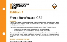 Edition 01 - Fringe Benefits Tax & GST | ABN