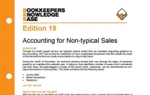 Edition 19 - Accounting for Non-Typical Sales