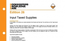 Edition 26 - GST: Input Taxed Supplies