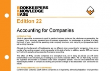 Edition 22 - Accounting for Companies