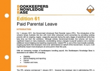 Edition 61 - Paid Parental Leave (PPL)