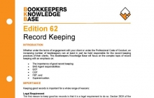 Edition 62 - Record Keeping