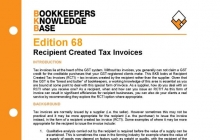 Edition 68 - Recipient Created Tax Invoices