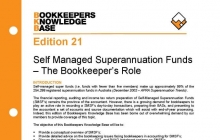Edition 21 - Self-Managed Super Funds (SMSF)