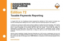 Edition 72 - Taxable Payments Reporting